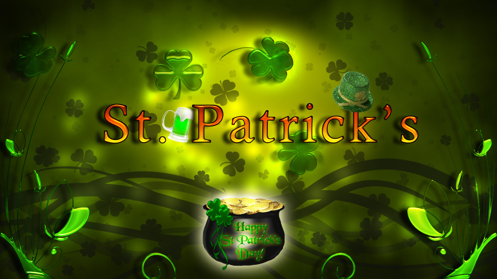 3D St Patricks Day Wallpaper