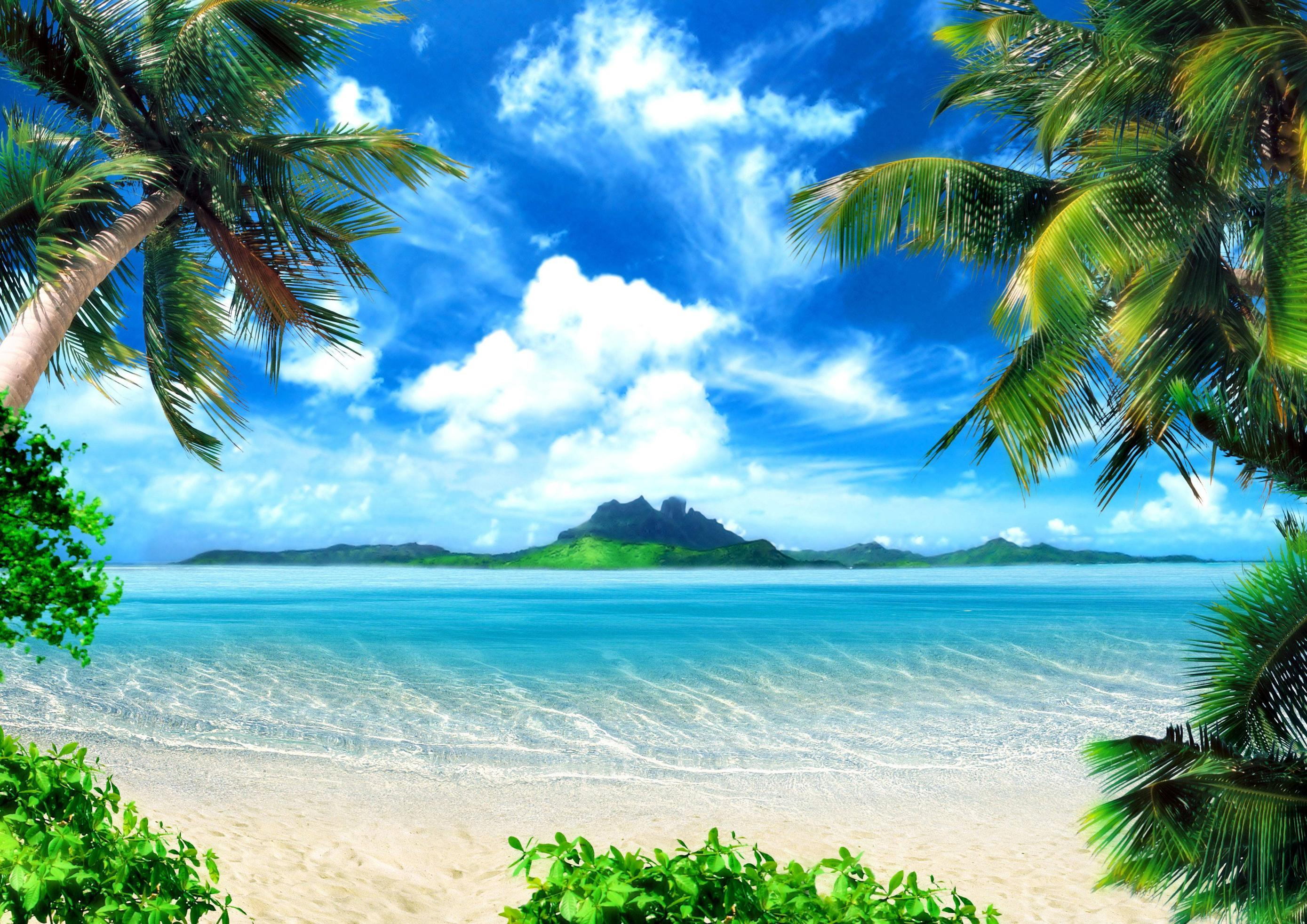 3D Wallpaper Beach
