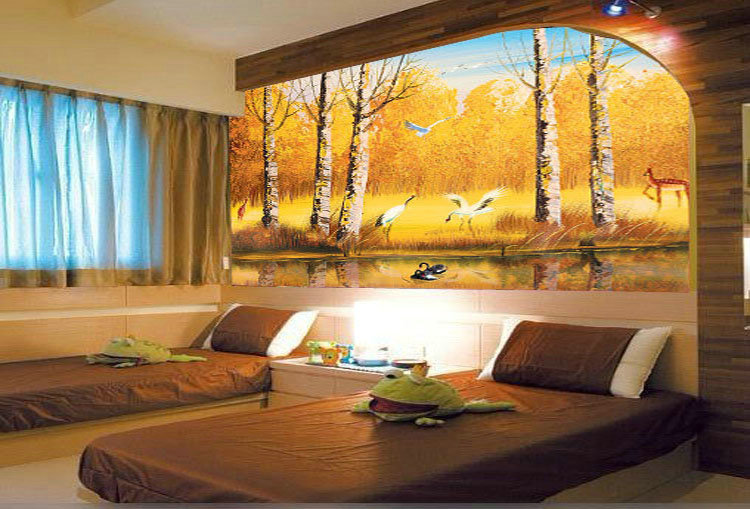 Download 3d wallpaper house decor gallery for Home decor 3d wallpaper