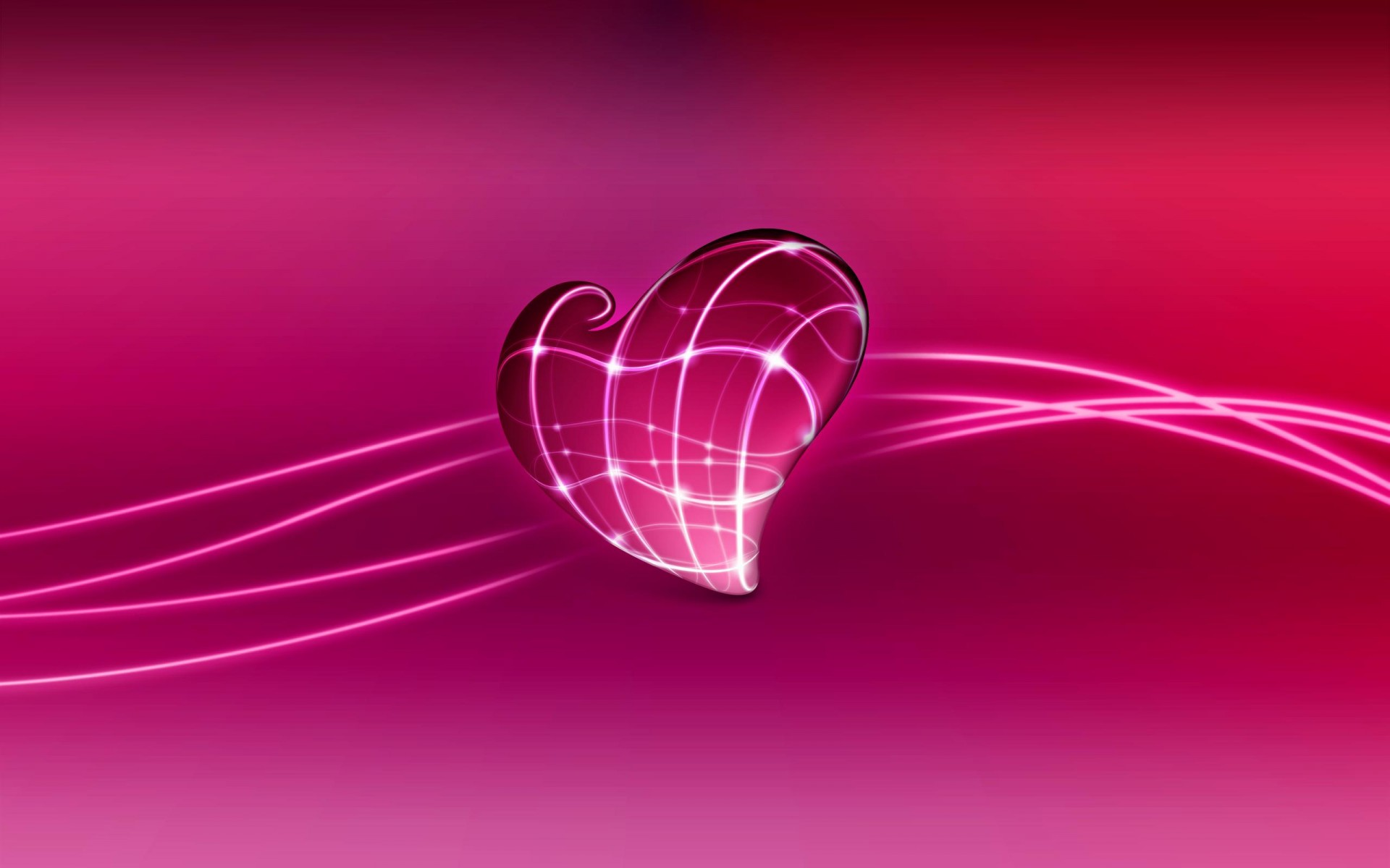 3D Wallpaper Love Heart