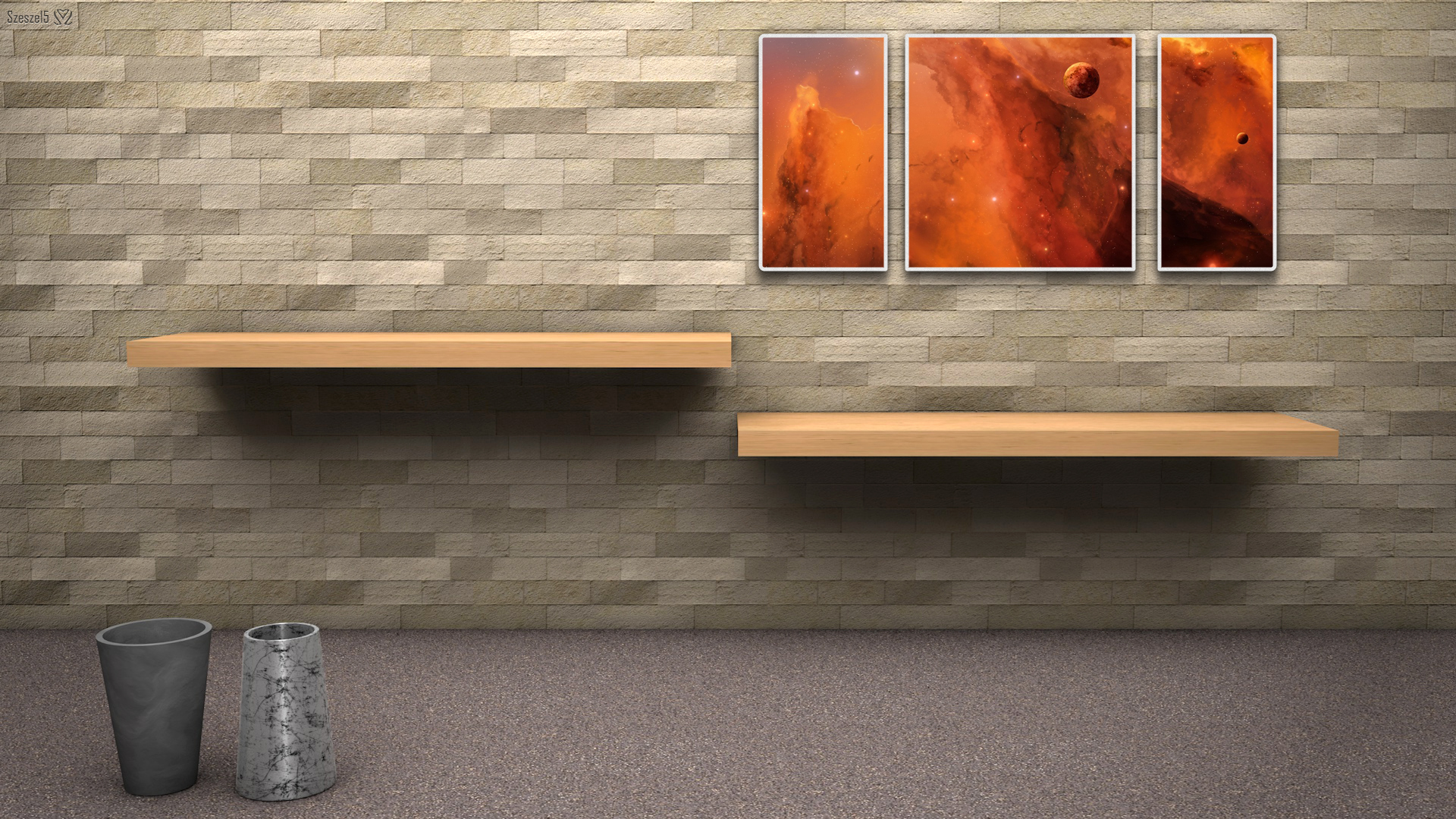 3D Wallpaper Room