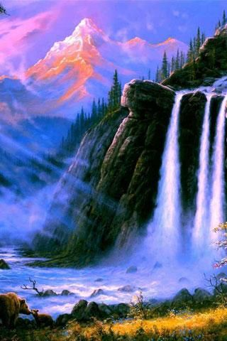 3D Waterfall Wallpaper Free Download