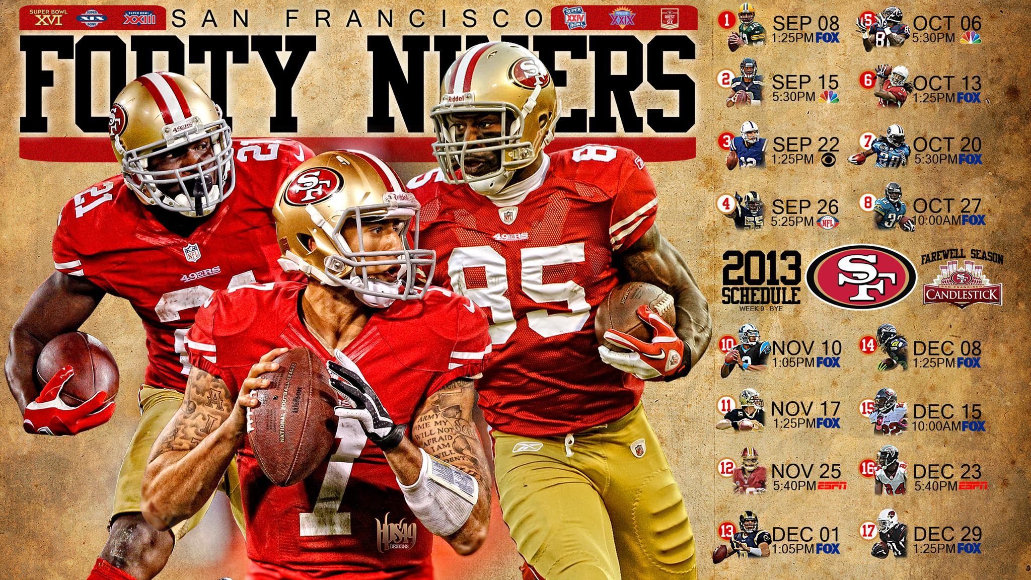 49ers Schedule Wallpaper