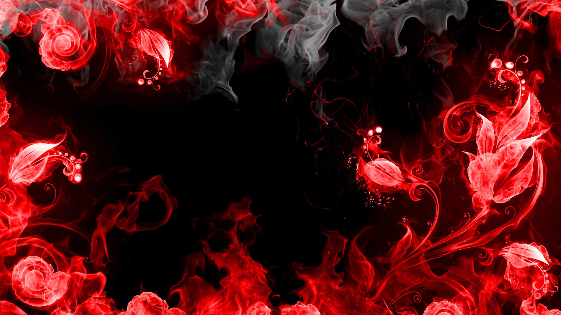 Abstract Red And Black Wallpaper
