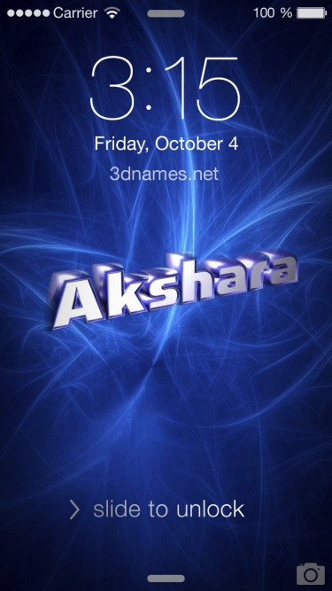 Akshara Name Wallpaper