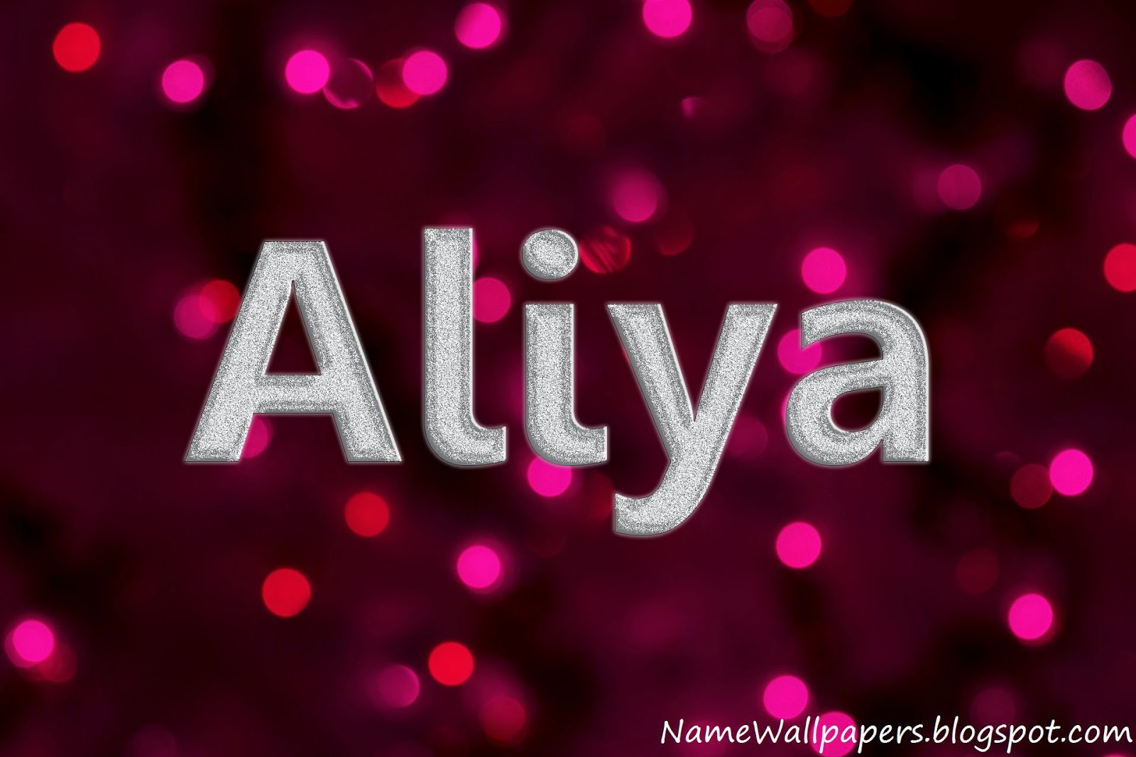 Aliya Name Wallpaper