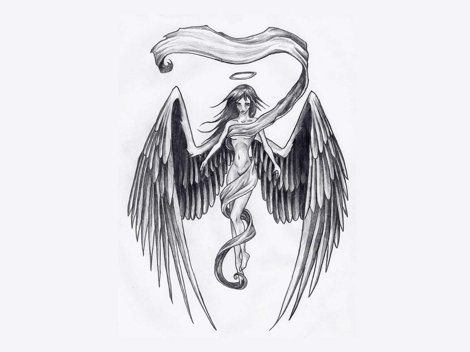 Angel Tattoo Wallpaper