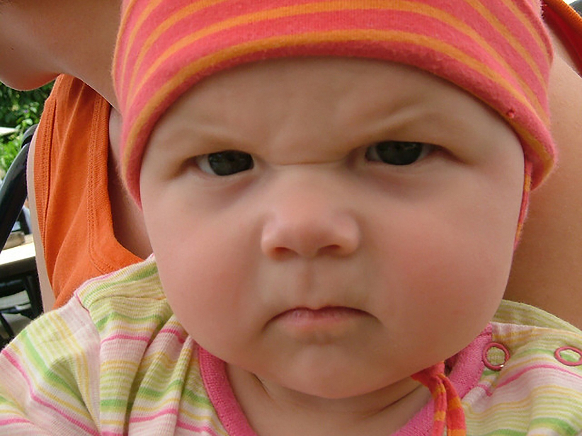 Angry Baby Wallpaper