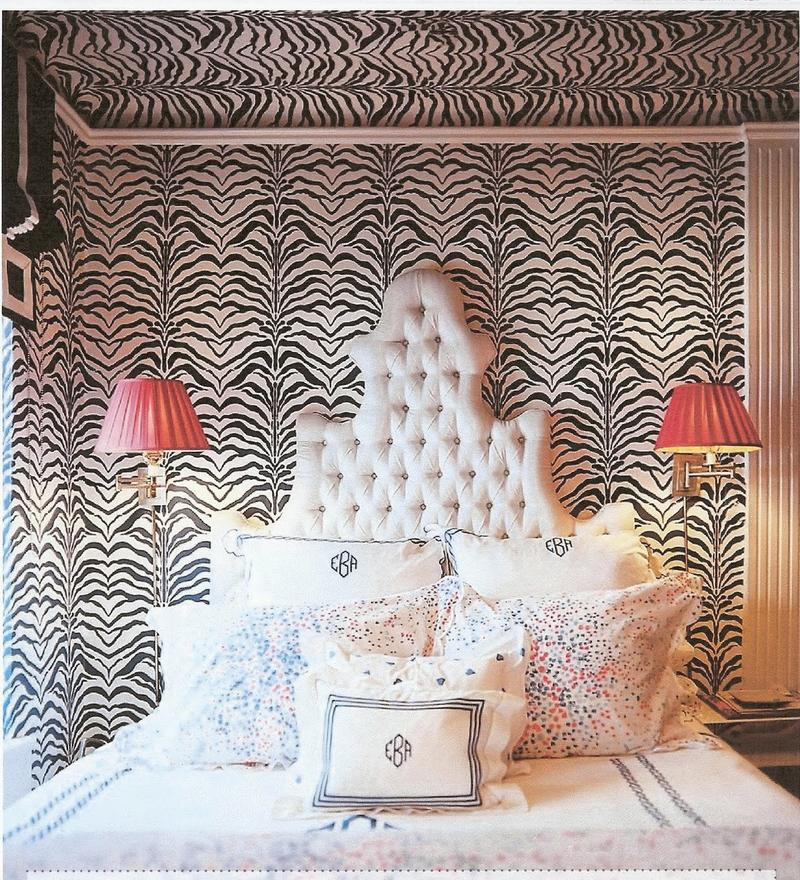 Animal print wallpaper for bedrooms