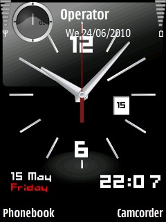 Animated Clock Wallpaper For Samsung Mobile