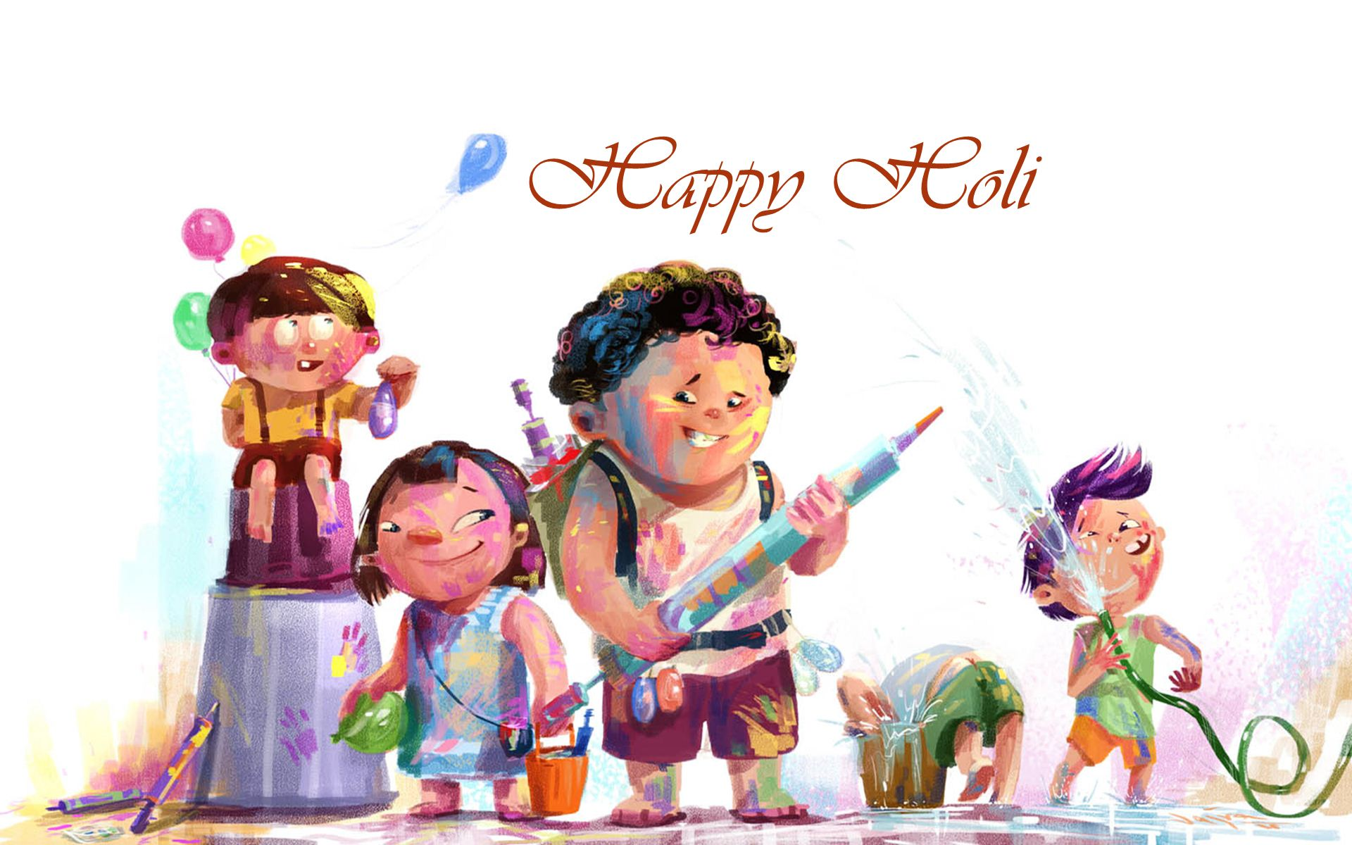 Animated Holi Wallpaper