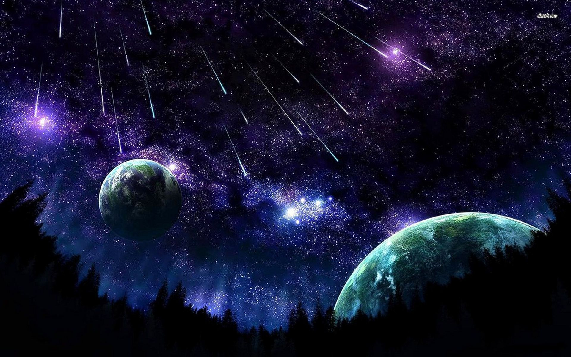 Animated Night Sky Wallpaper