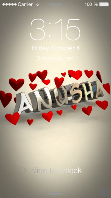 Anusha Name Wallpaper