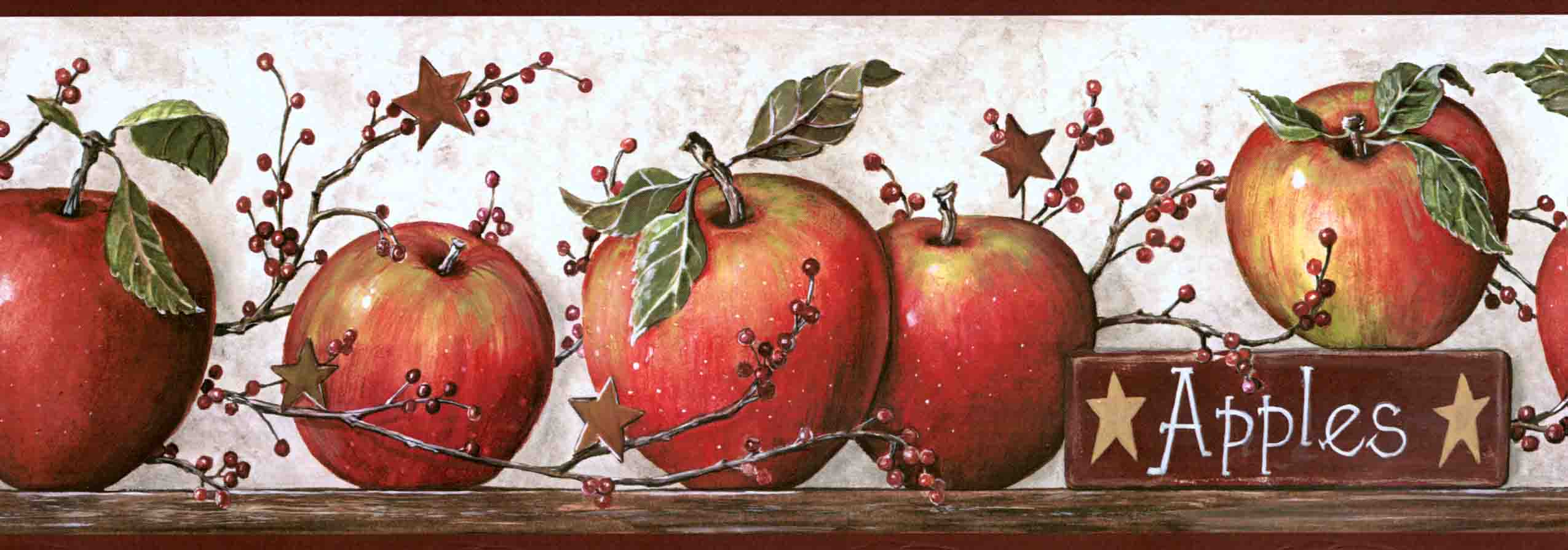 Apple Wallpaper Border Kitchen