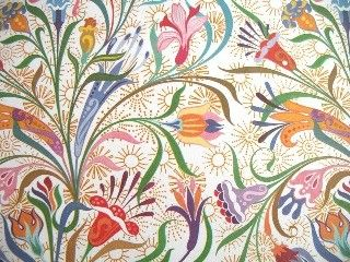 Art Deco Floral Wallpaper