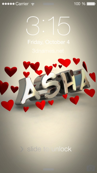 Asha Name Wallpaper