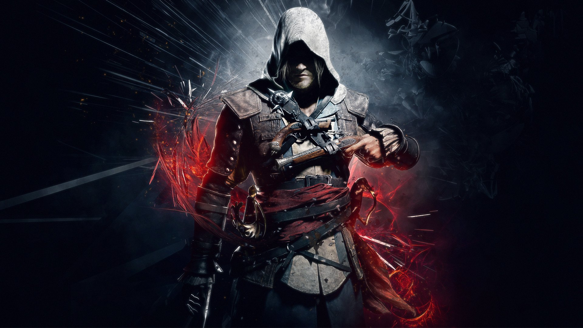 Assassins Creed Black Wallpaper