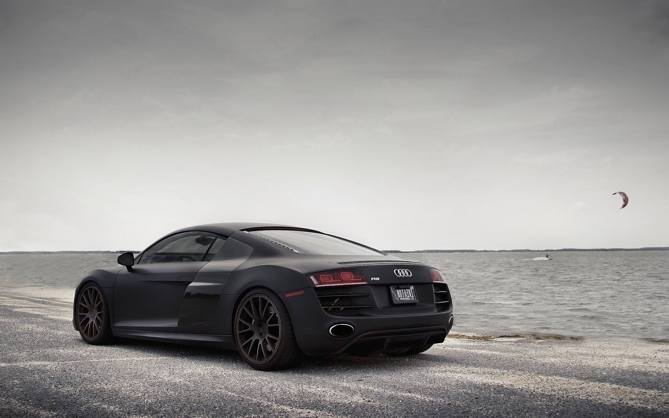 Audi R8 Matte Black Wallpaper