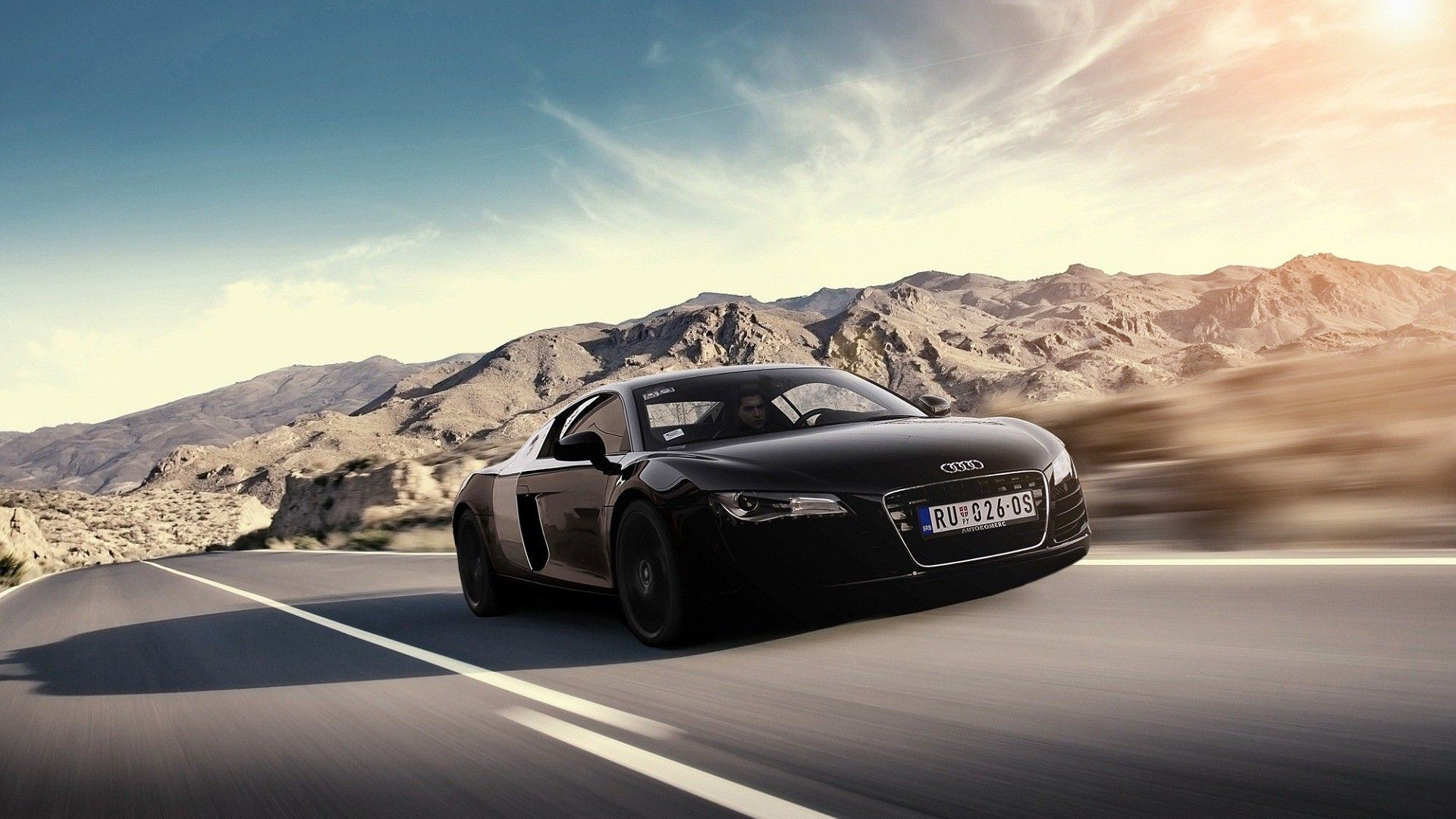 Audi R8 Wallpaper Black