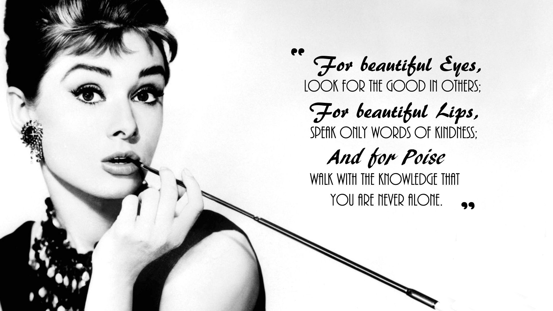 Audrey Hepburn Quotes Wallpaper
