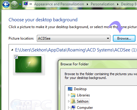 how to change wallpaper on windows 7