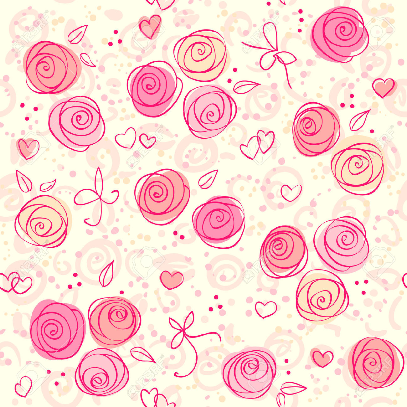 Baby Pink And White Wallpaper