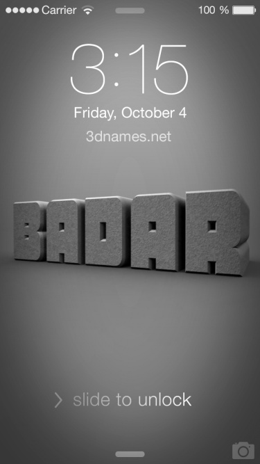 Badar Name Wallpaper