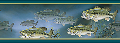 Bass Fishing Wallpaper Border