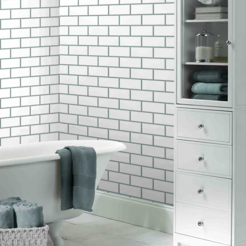 bathroom wallpaper tile effect bathroom wallpaper tile effect gallery 17175