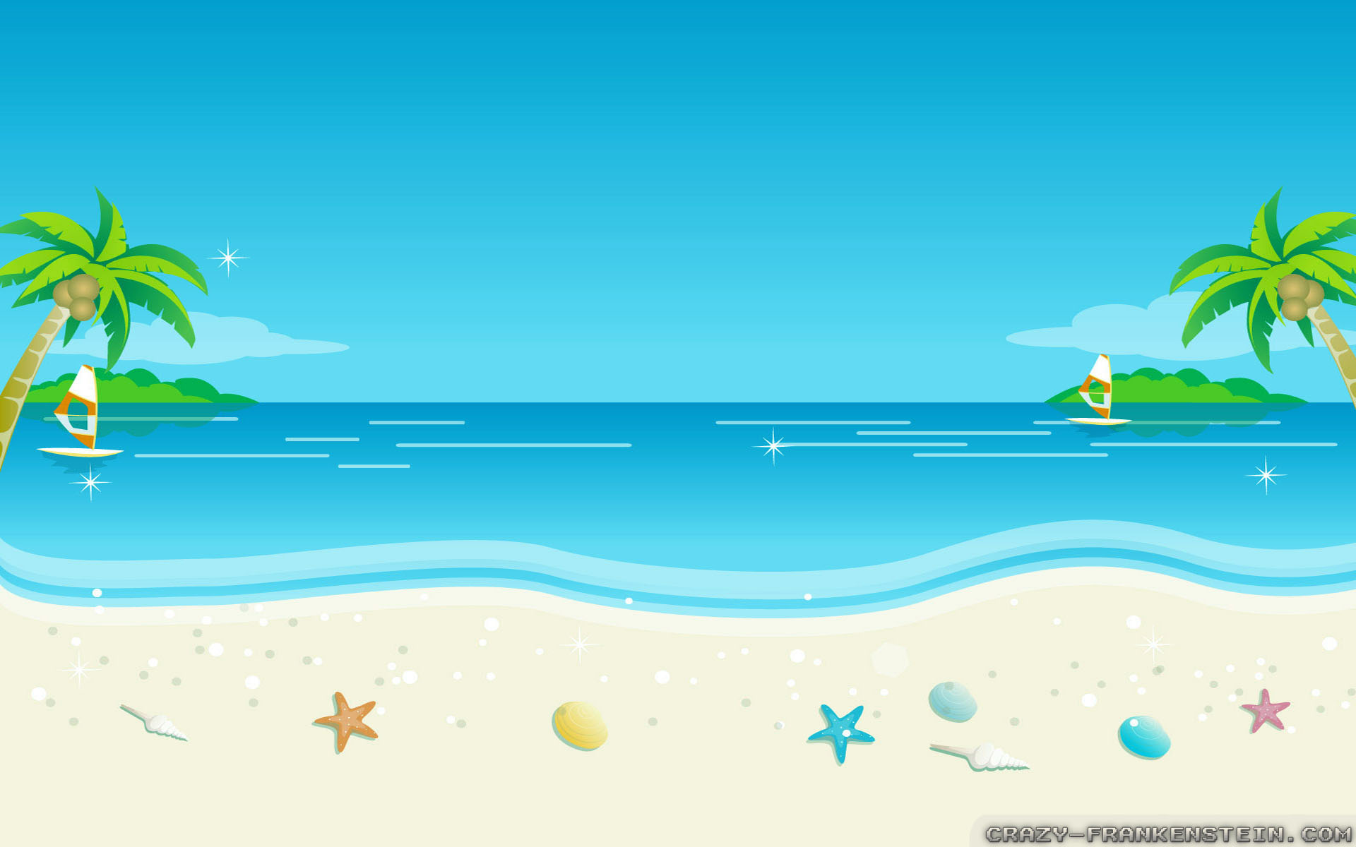 Beach Cartoon Wallpaper