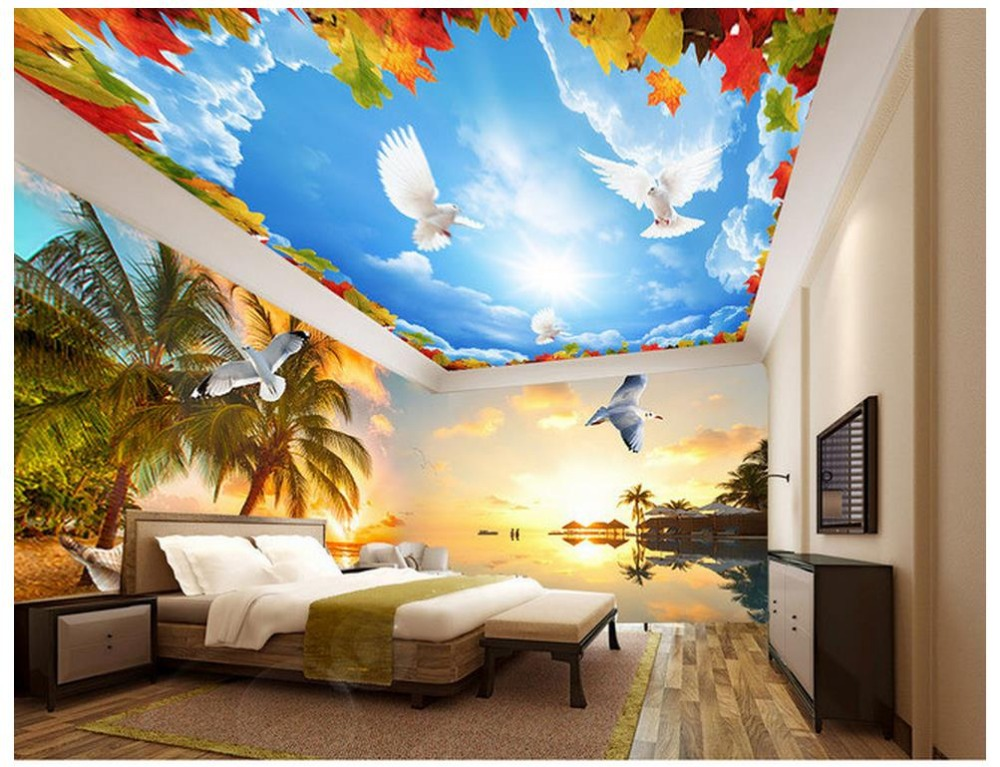 Download beach themed wallpaper for walls gallery for Themed bedroom wallpaper