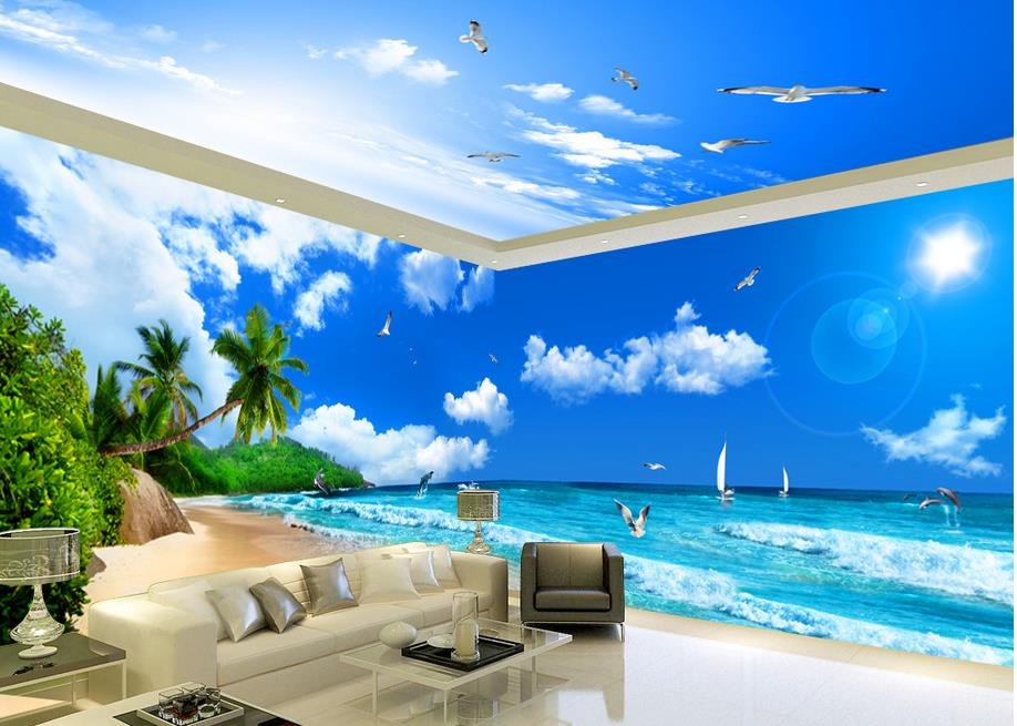 Download Beach Themed Wallpaper For Walls Gallery