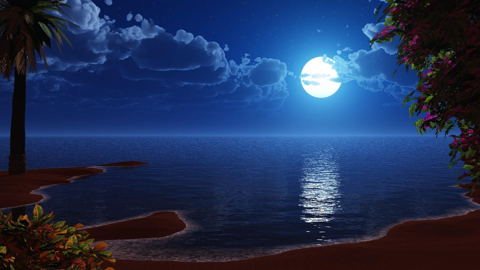 Beautiful Night Moon Wallpapers