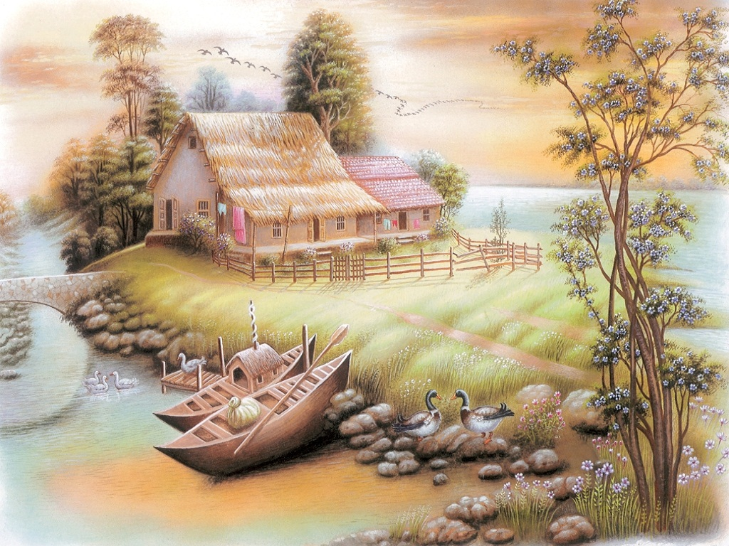 Indian Nature Painting Wallpaper The