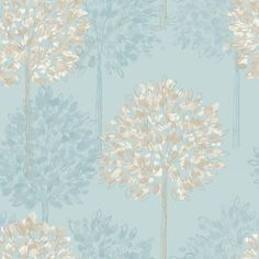 Beige And Blue Wallpaper