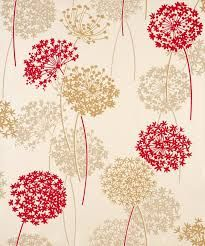 Beige And Red Wallpaper