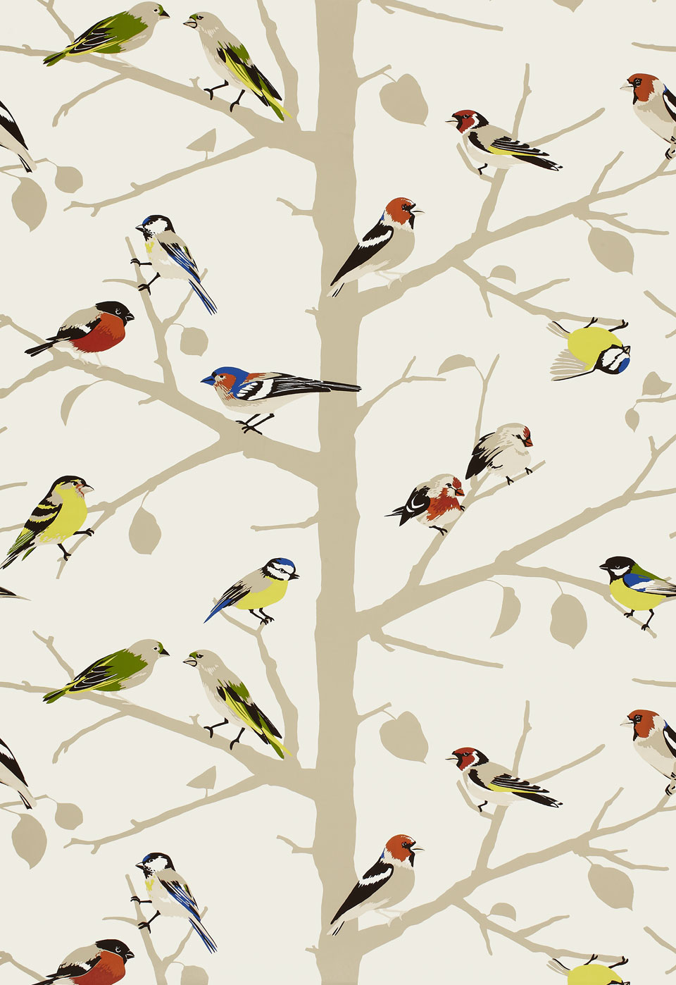 Black bird wallpaper pattern