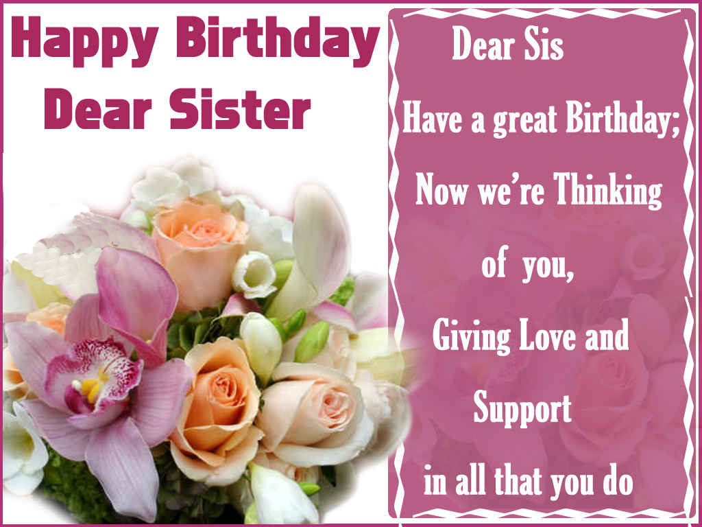 Birthday Wishes Wallpaper For Sister