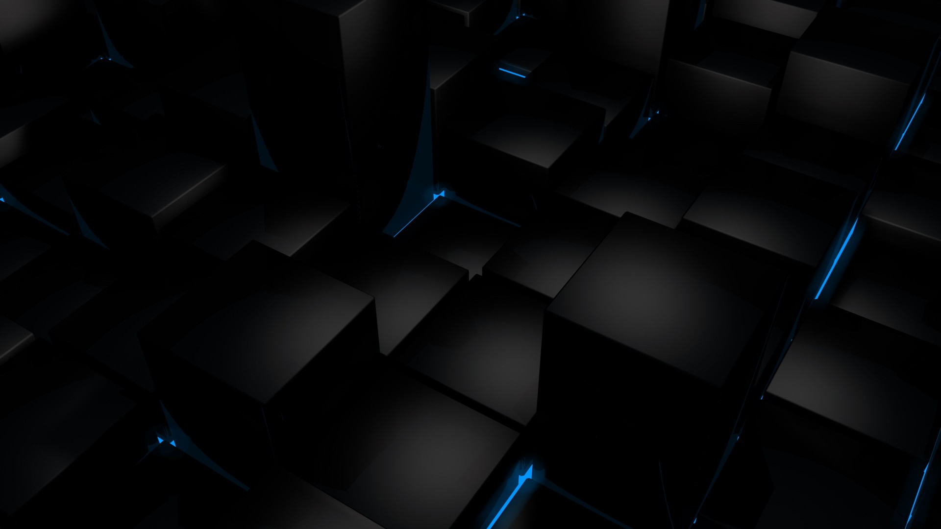 Black 3D HD Wallpaper