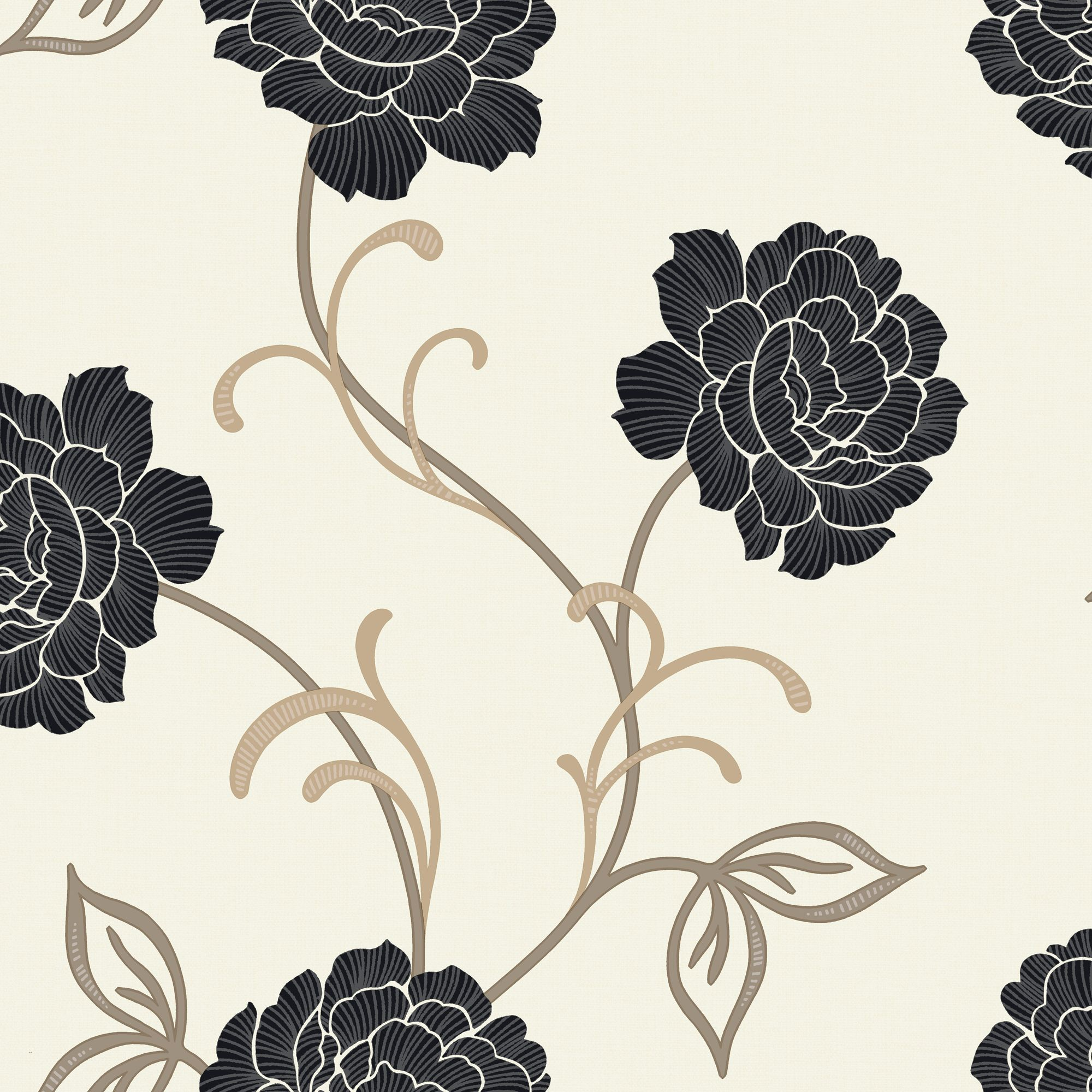 Black And Cream Wallpaper B&Amp;Q