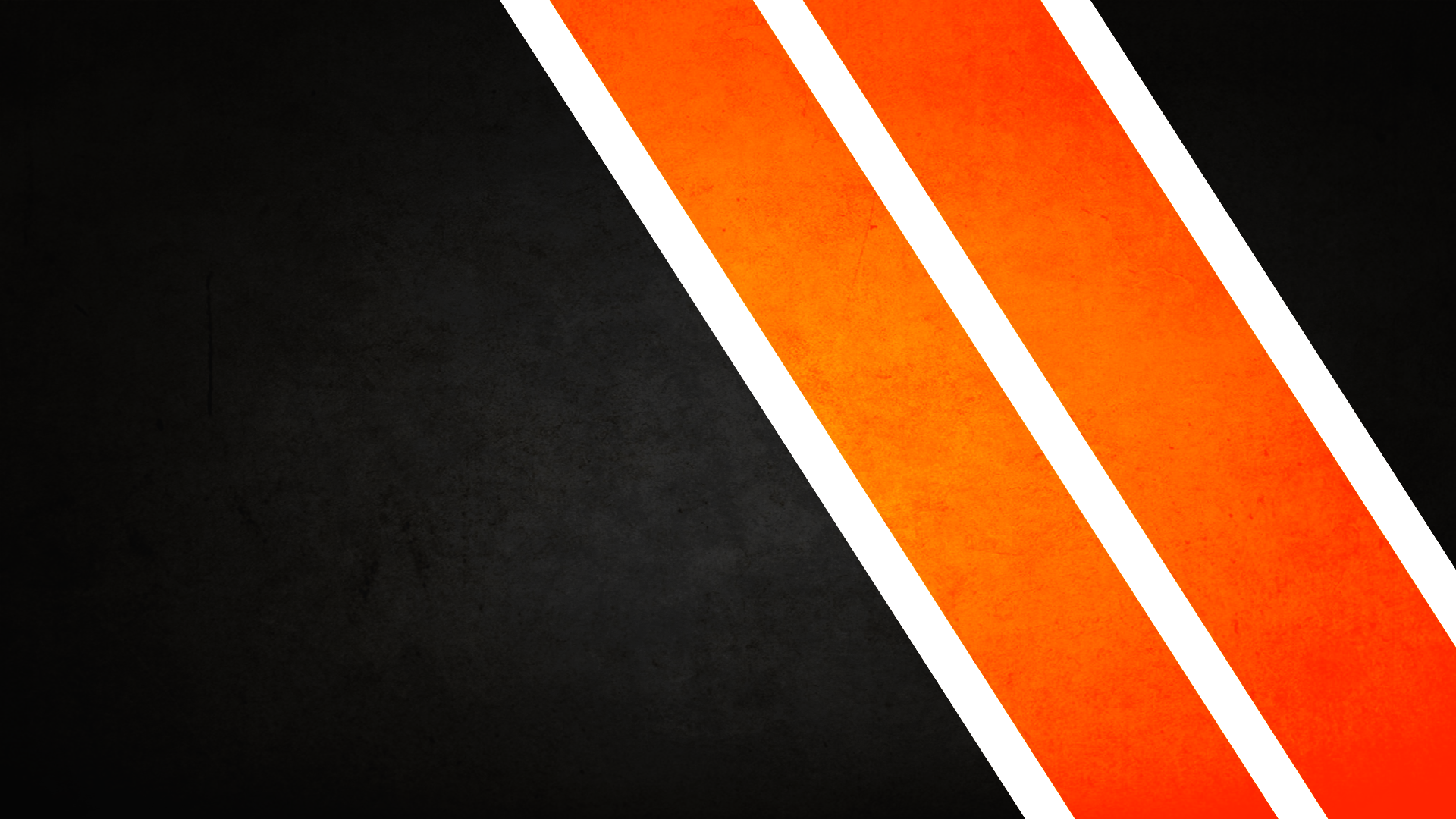 Black And Orange Striped Wallpaper