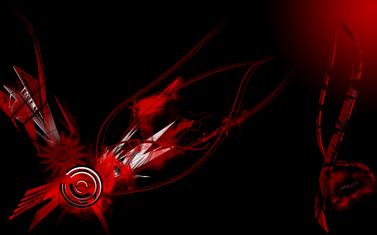 Black And Red Desktop Wallpaper