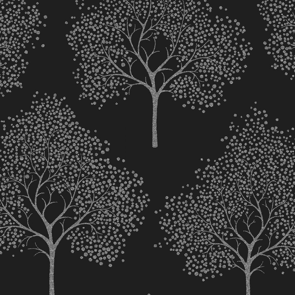 Black And Silver Tree Wallpaper