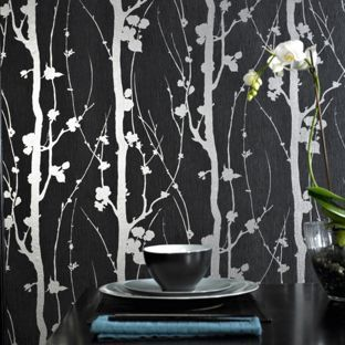 Black And Silver Wallpaper Homebase