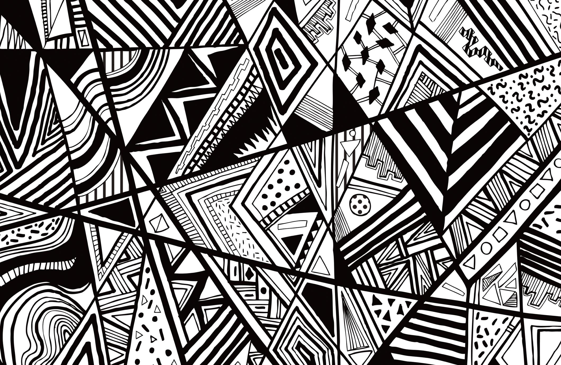 Black And White Abstract Wallpaper HD