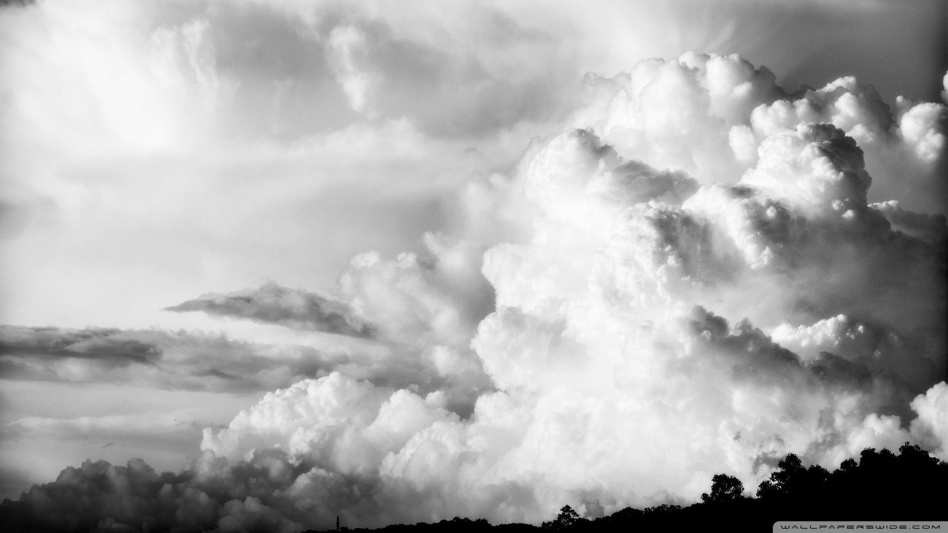Black And White Cloud Wallpaper