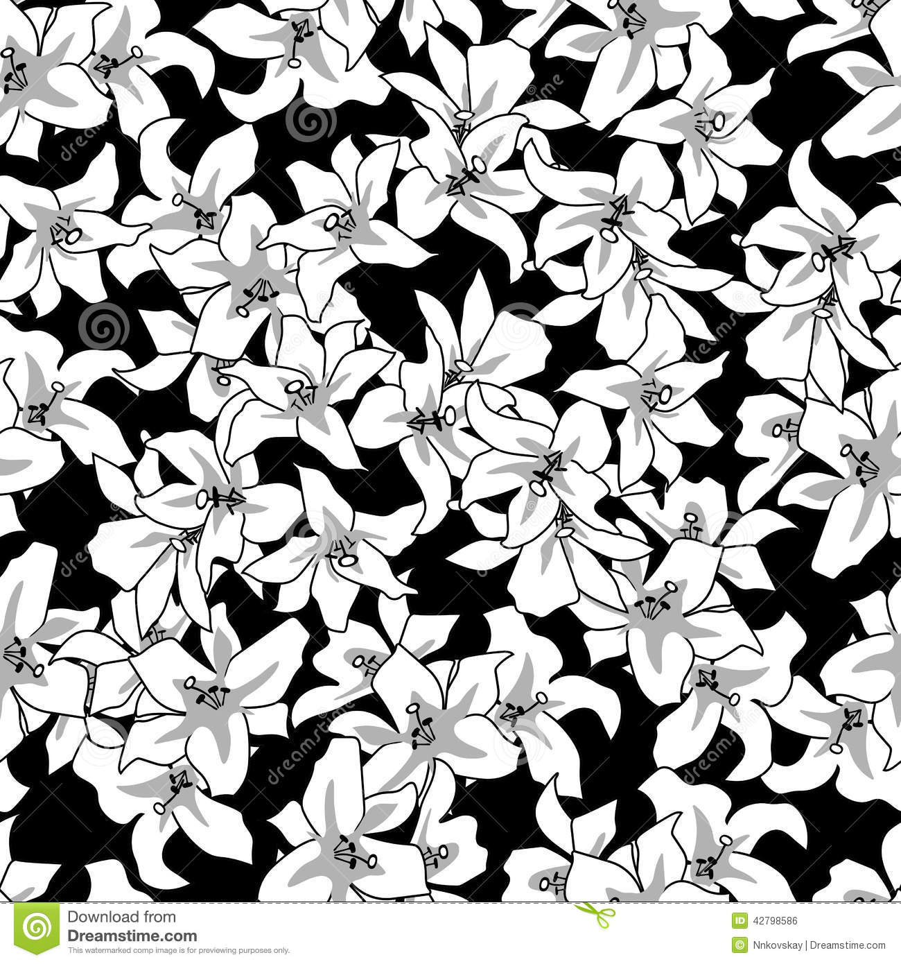 Black And White Floral Background Pictures