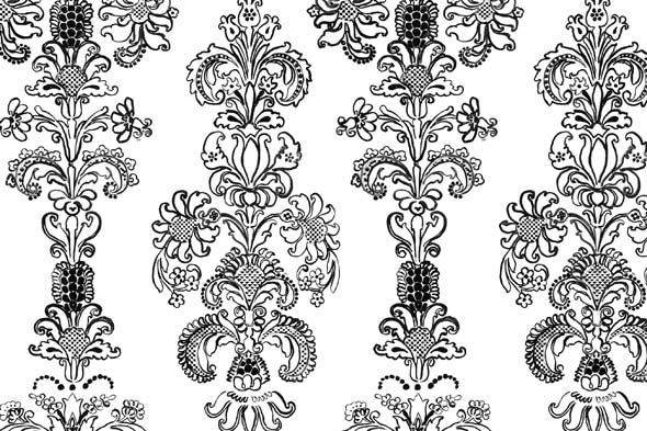Black And White French Wallpaper