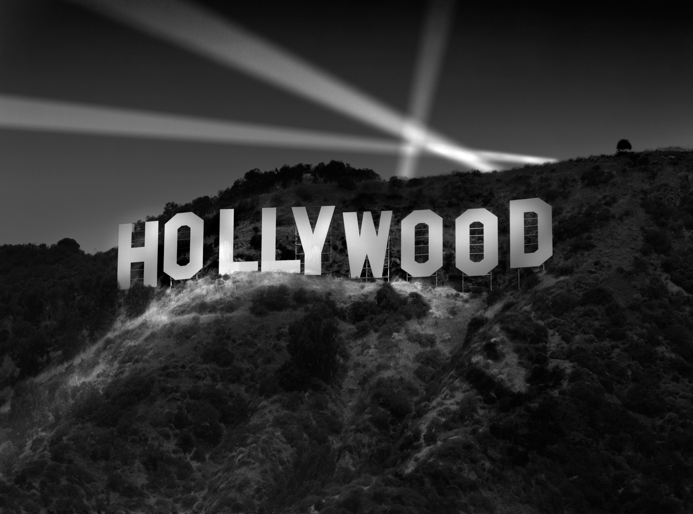 Black And White Hollywood Wallpaper