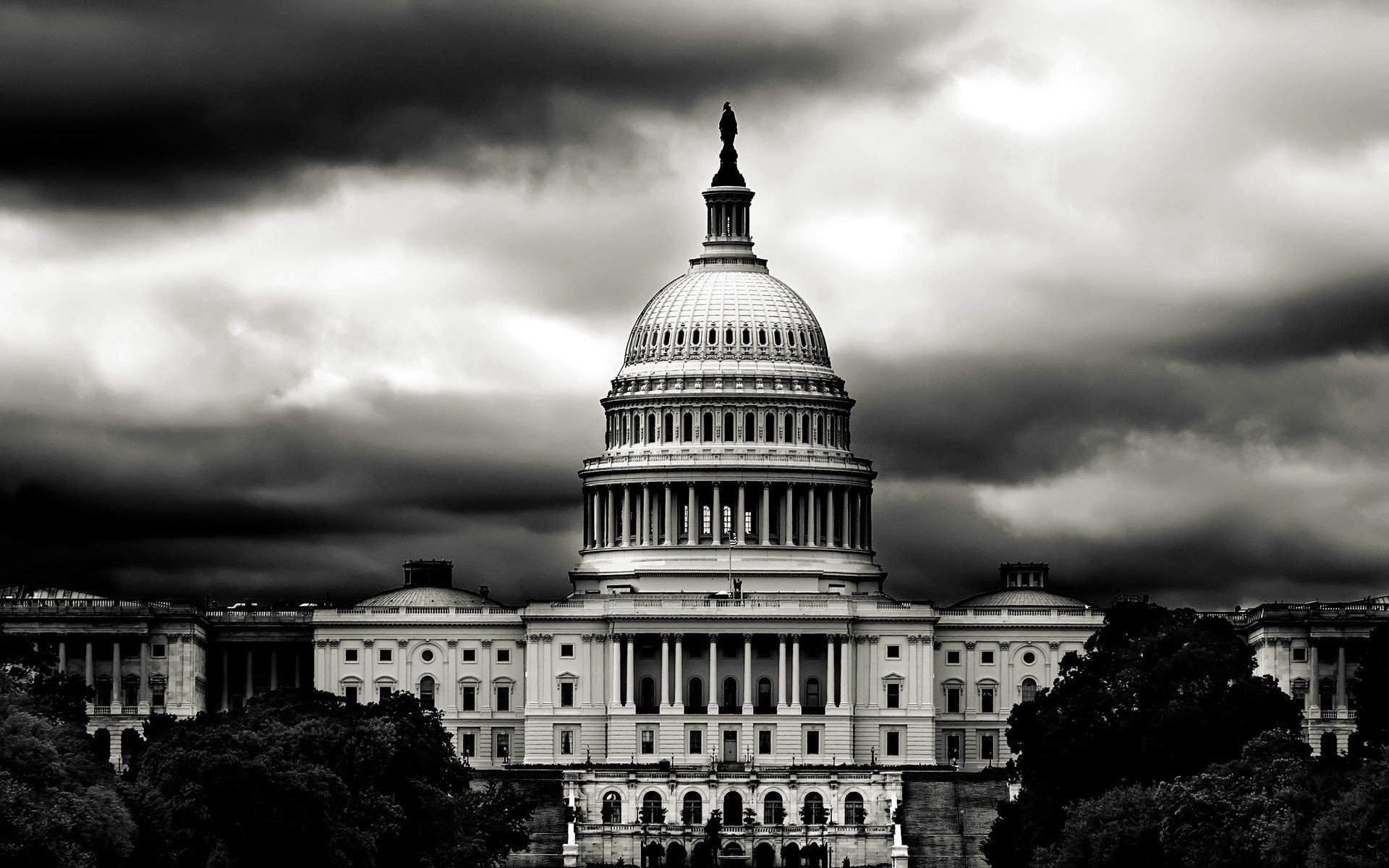 Black And White House Wallpaper